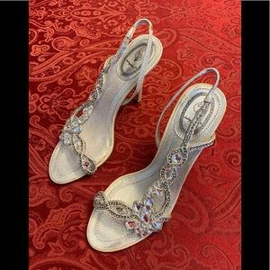Baby Phat Bijou Silver jewel embellished Stiletto